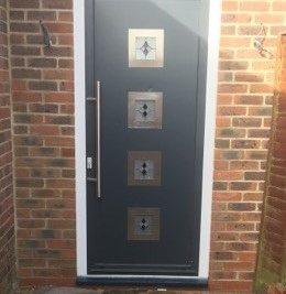 aluminium front door